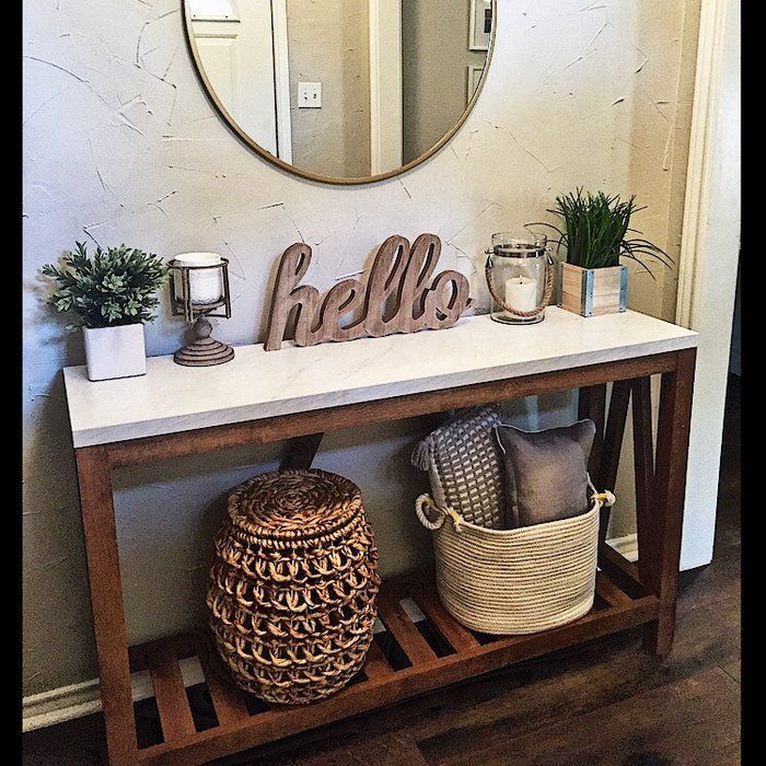 Offerman 52 Console Table In 2020 Entryway Table Decor Entry Table Decor Decor