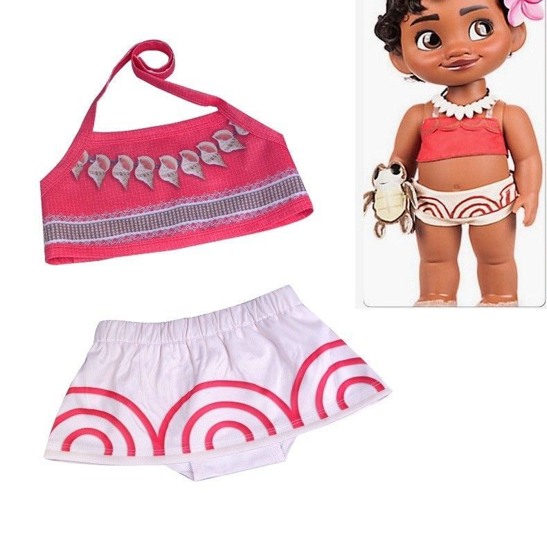 ef9d8973e9 Toddler Baby Girls Children Moana Cosplay Swimwear Suit Bikini Costume  Cartoon