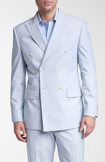 Joseph Abboud Double Breasted Cotton Seersucker Suit - A classic ...