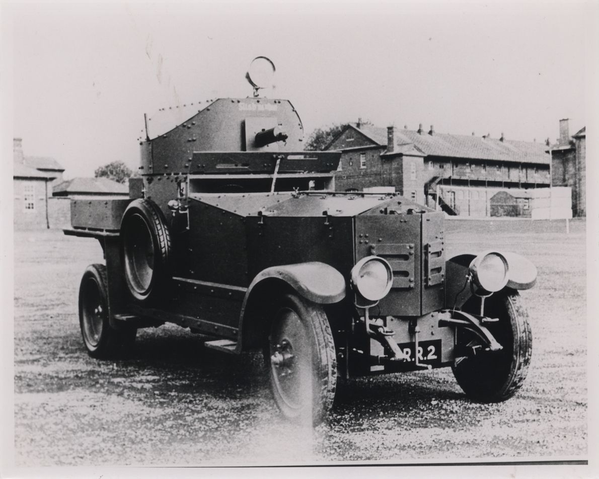A rolls royce armoured car used by irish free state troops during the civil war in