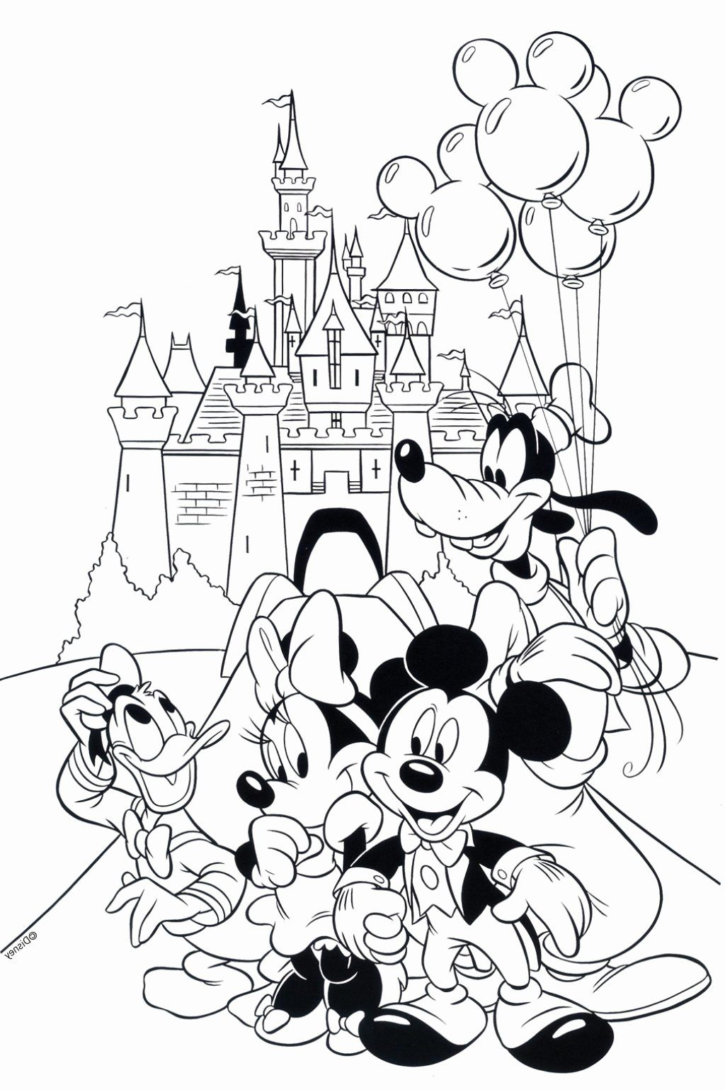 Cartoon Coloring Pages For Adults