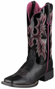 07470efb4d3 Ariat Womens Tombstone Black Patent Leather Boots 10005866   Ariat ...