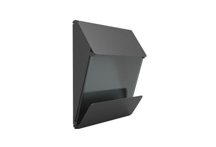 Wall mounted modern mailbox newspaper holder allmodern