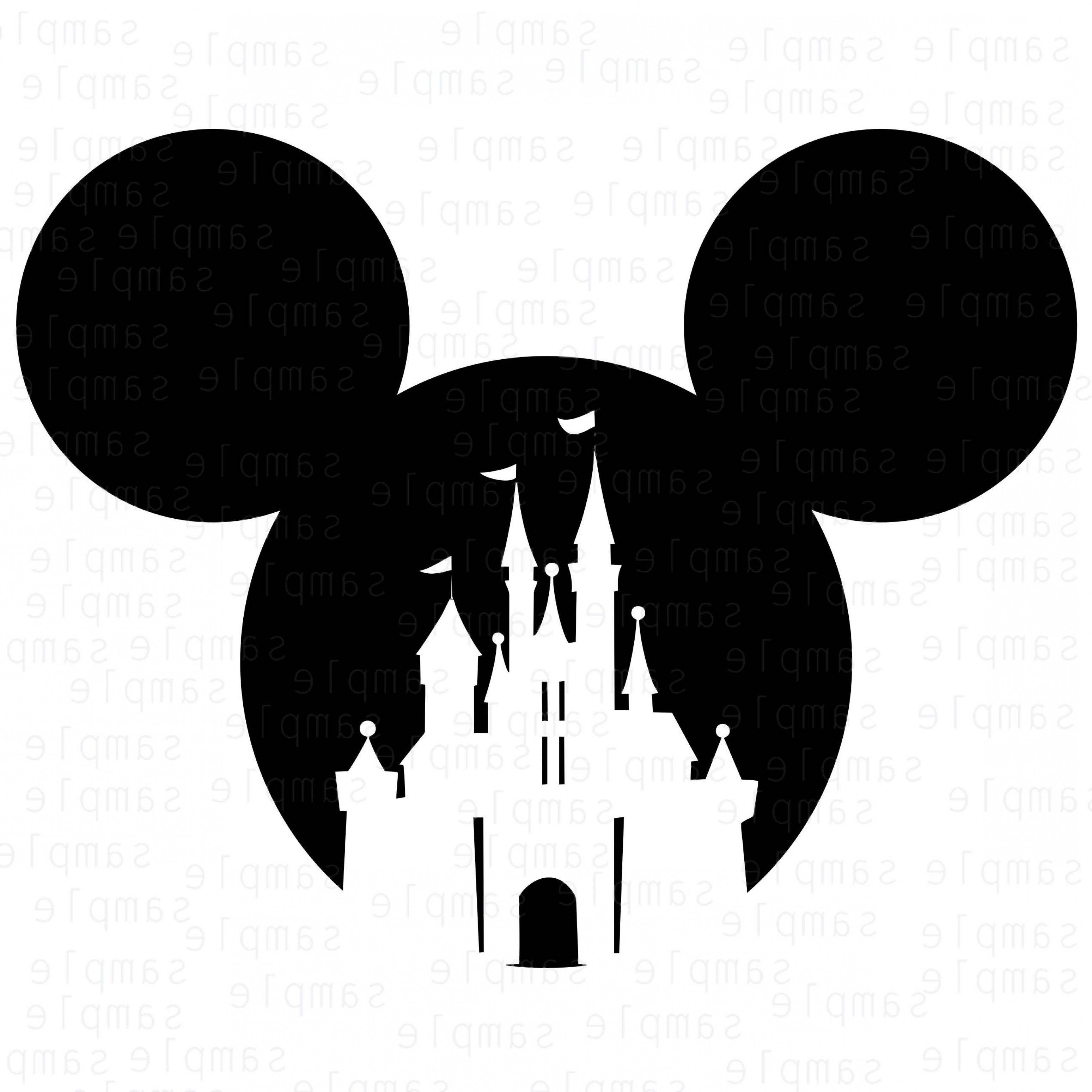 Mickey Vector Mickey Castle Disney Svg Mickey Castle Disney Stencils Disney Silhouettes Mickey Mouse Tattoos