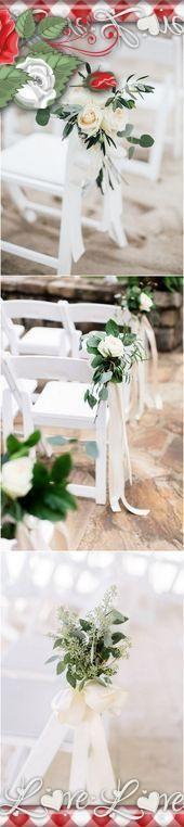32 ideas inspiradoras de decoración de pasillo de boda al aire libre – Página …
