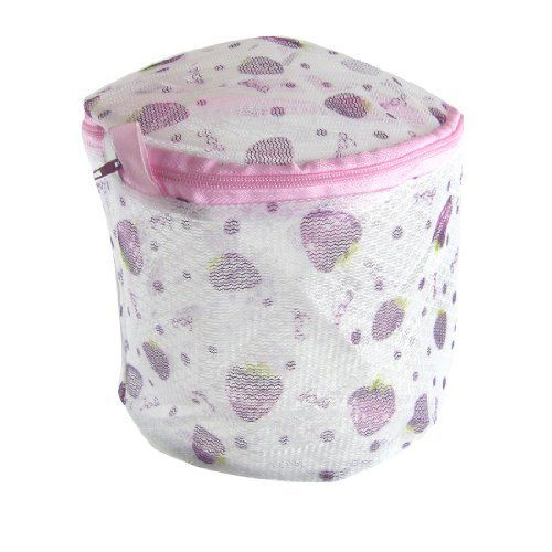 Amico Cherry Print Zipper Mesh Nylon Laundry Underwear Washing Bag