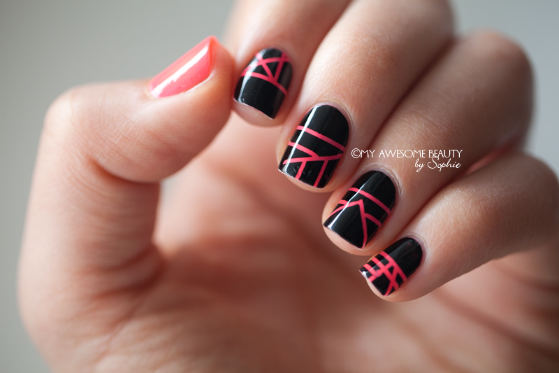 Todays Daily Nail Art Is This Striped Design By Myawesomebeauty