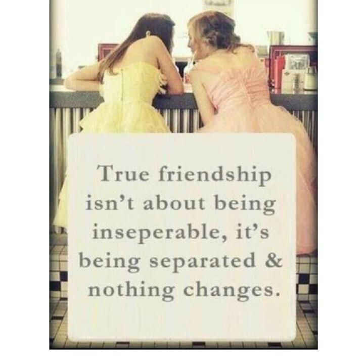 006 True friendship isn't about being inseperable, it's being