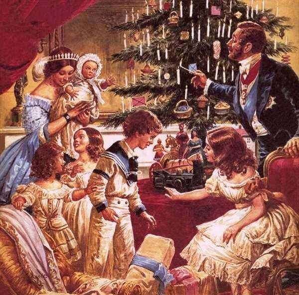 Christmas With Victoria And Albert Queen Victoria Painting Lds Art