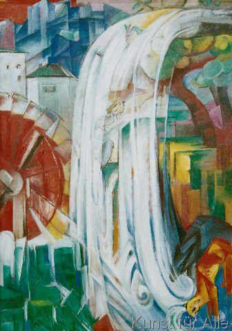 Franz Marc - Die verzauberte Mühle