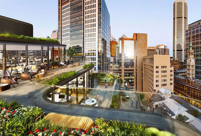 Grimshaw S Mixed Use Build In Sydney Has Cascading Rooftop Terraces Rooftop Design Mix Use Building Rooftop Terrace