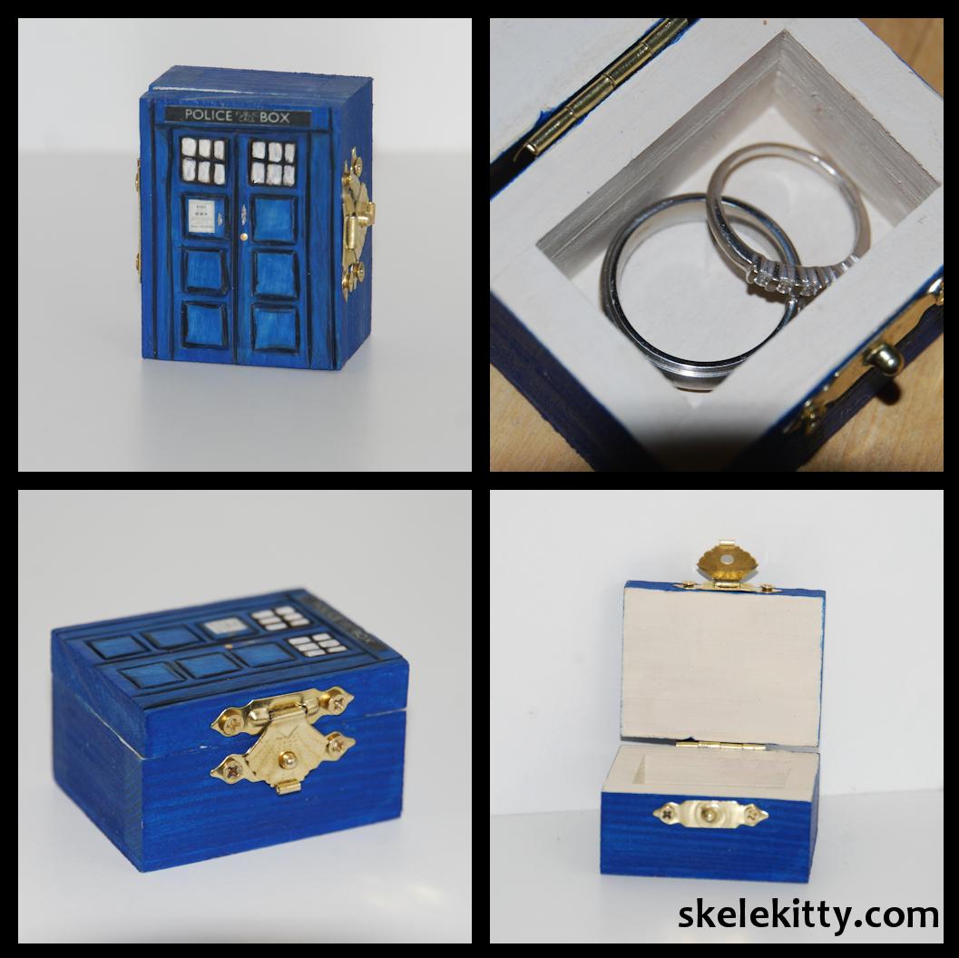 Custom Doctor Who Tardis Wedding Ring Box