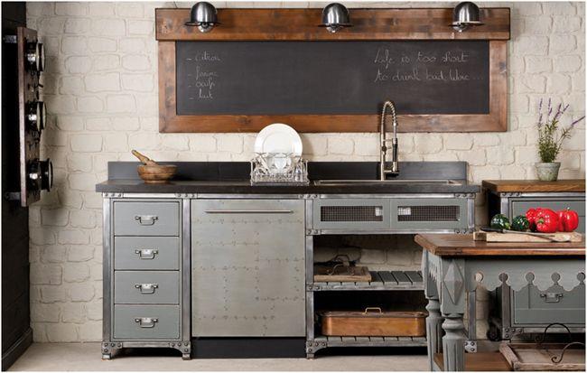 Détails Pour Donner Un Style Industriel à Votre Cuisine - Verin a gaz pour meuble de cuisine pour idees de deco de cuisine