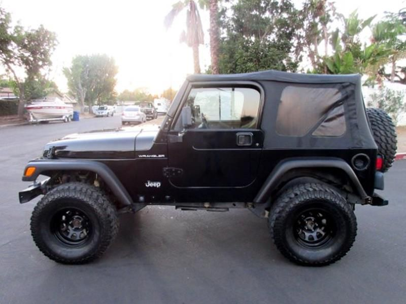 This 2000 Jeep Wrangler Sport is listed on