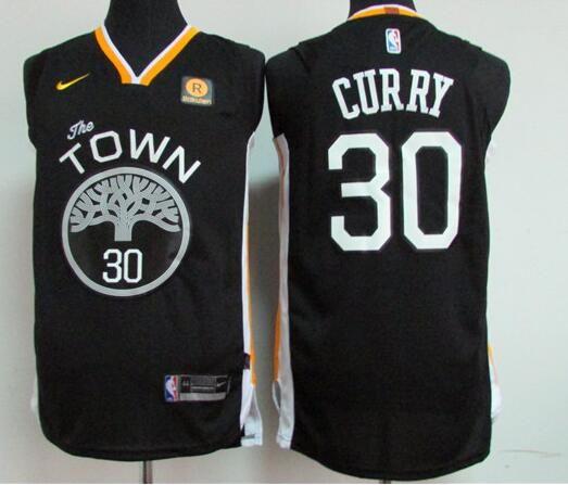 2e7ffe3a1 Men s Golden State Warriors  30 Stephen Curry Black 2017-2018 Nike Swingman  Rakuten Stitched NBA Jersey
