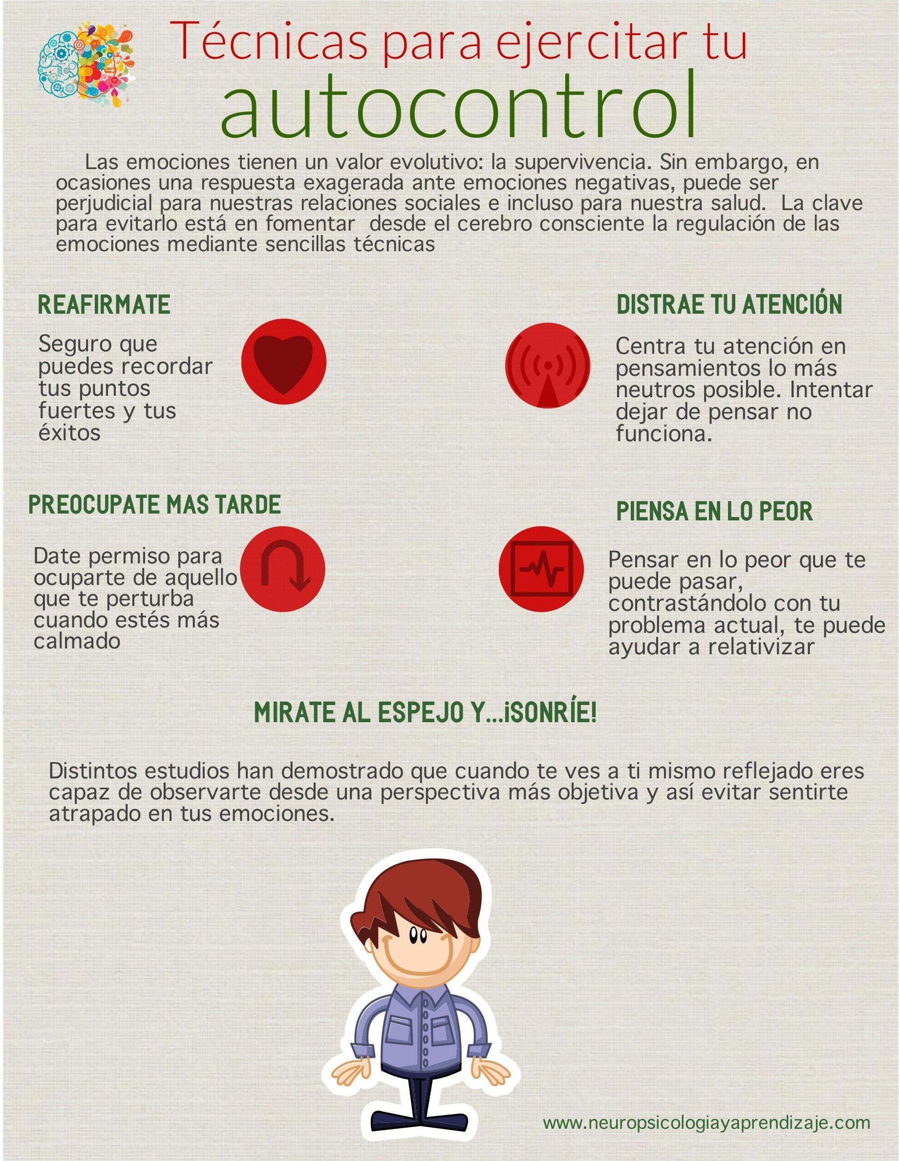 Ejercitar Autocontrol Emocional Mario Characters School Counselor Psychology