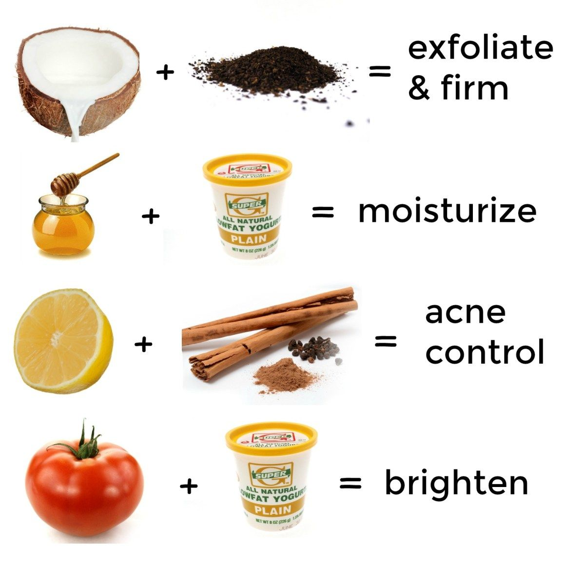 homemade face mask for exfoliating, moisturising, acne control and
