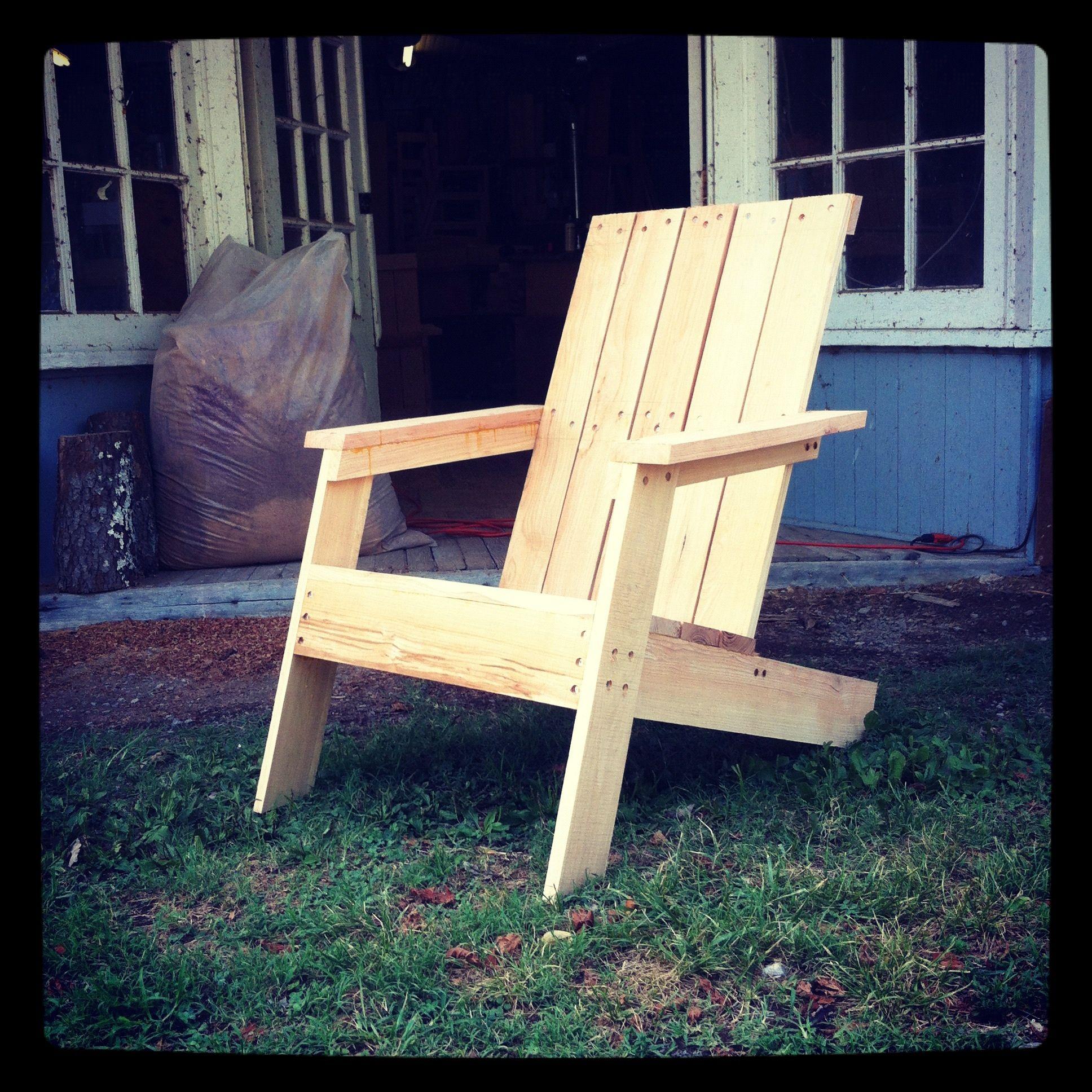 Modern adirondack chair holler design tennessee