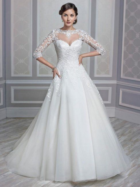 1604 StyleA Line Full Something Different FabricEmbroidered Cotton Lace Princess Wedding DressesWedding
