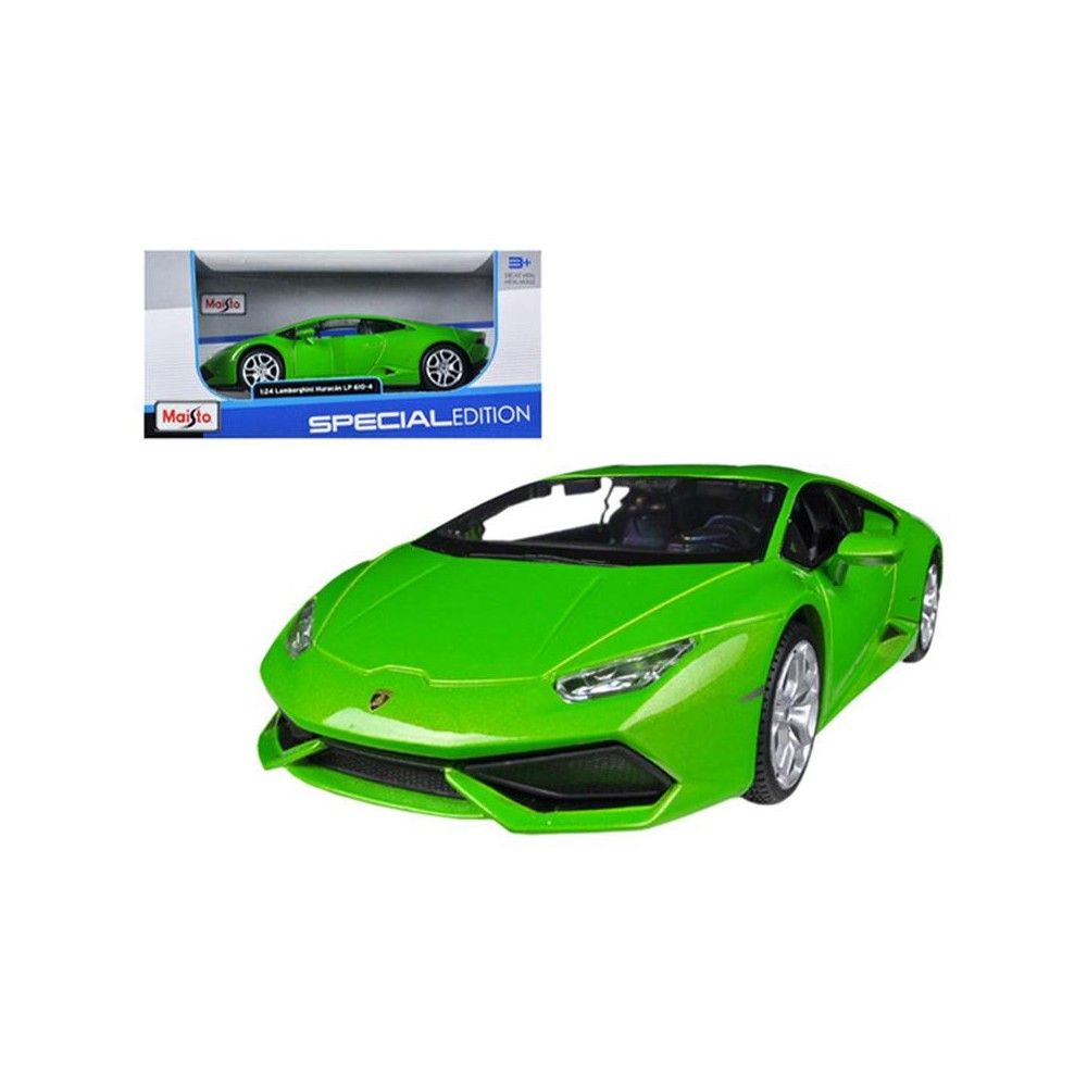 Lamborghini Huracan Lp610 4 Green 1 24 Diecast Model Car By Maisto Diecast Model Cars Lamborghini Models Diecast Models