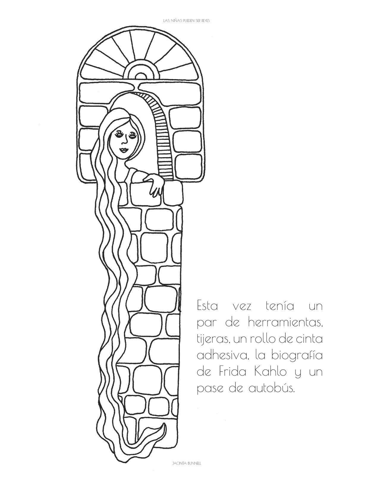 Las Ninas Pueden Ser Reyes Libro Para Colorear Coloring Book Queerbook Committee Coloring Books Book Girl Line Drawing
