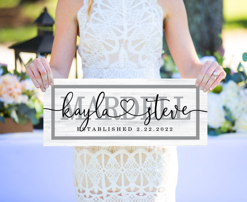 Personalized Wedding Sign Sign or Wedding Gift for