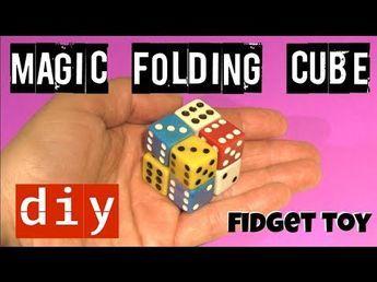 FOLDING FIDGET CUBE TOY - DICE MAGIC CUBE - DICE TOY - DIY FIDGET
