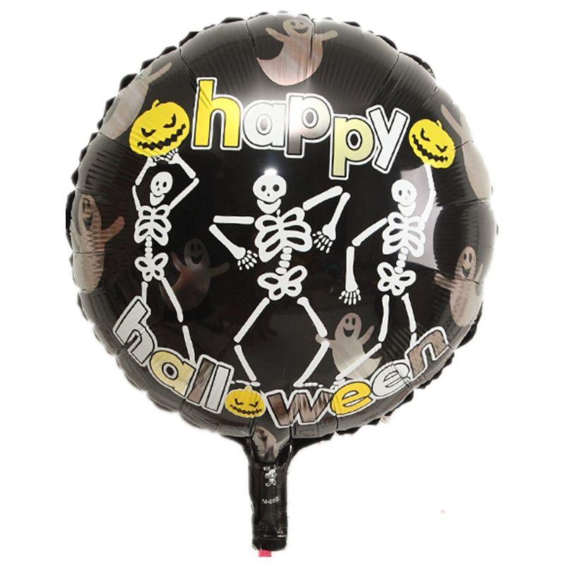 18 inch globos Happy Halloween terror round pumpkin foil air