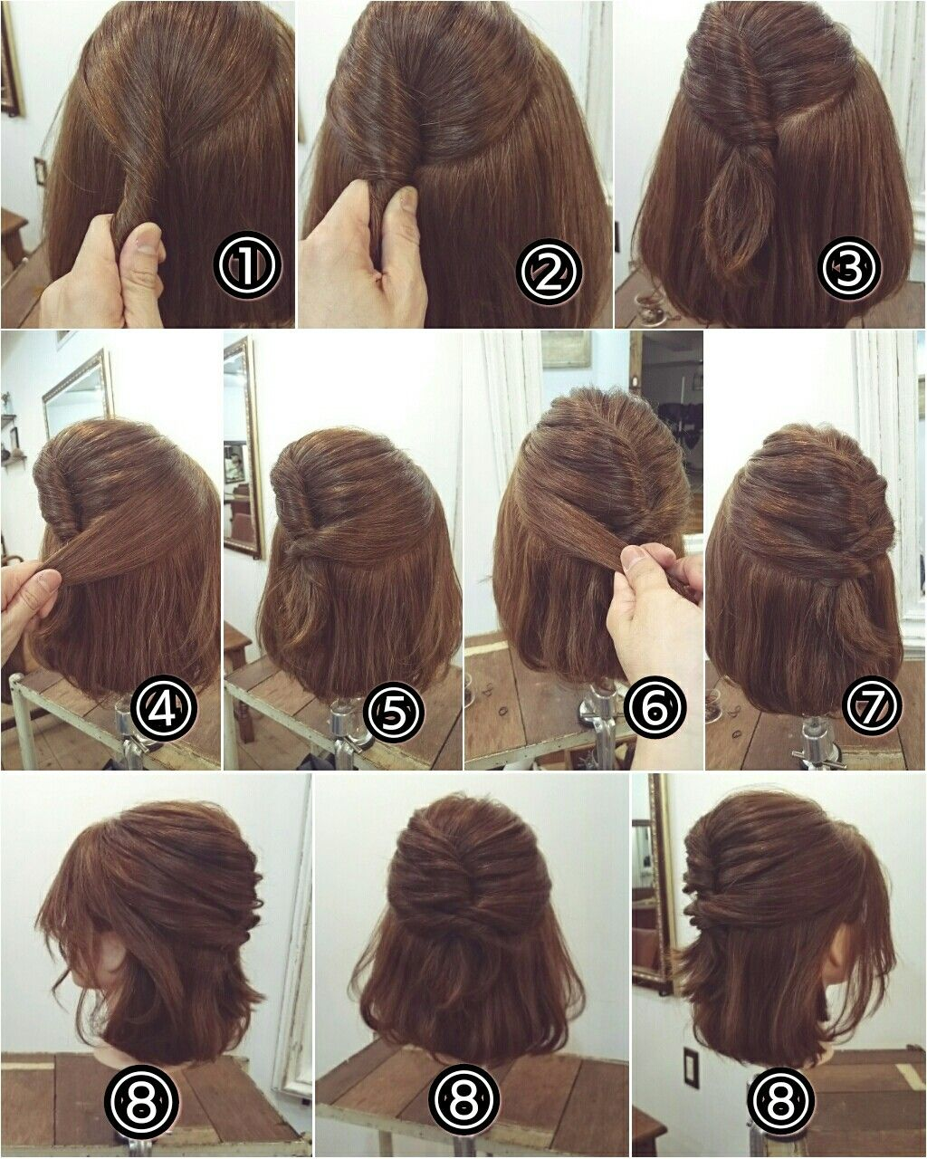 Peinados de noche semirecogidos cabello corto