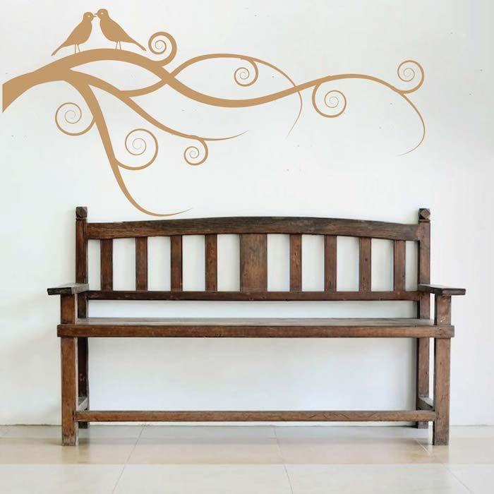 Love Bird Branch Wall Art Design | Trendy Wall Designs