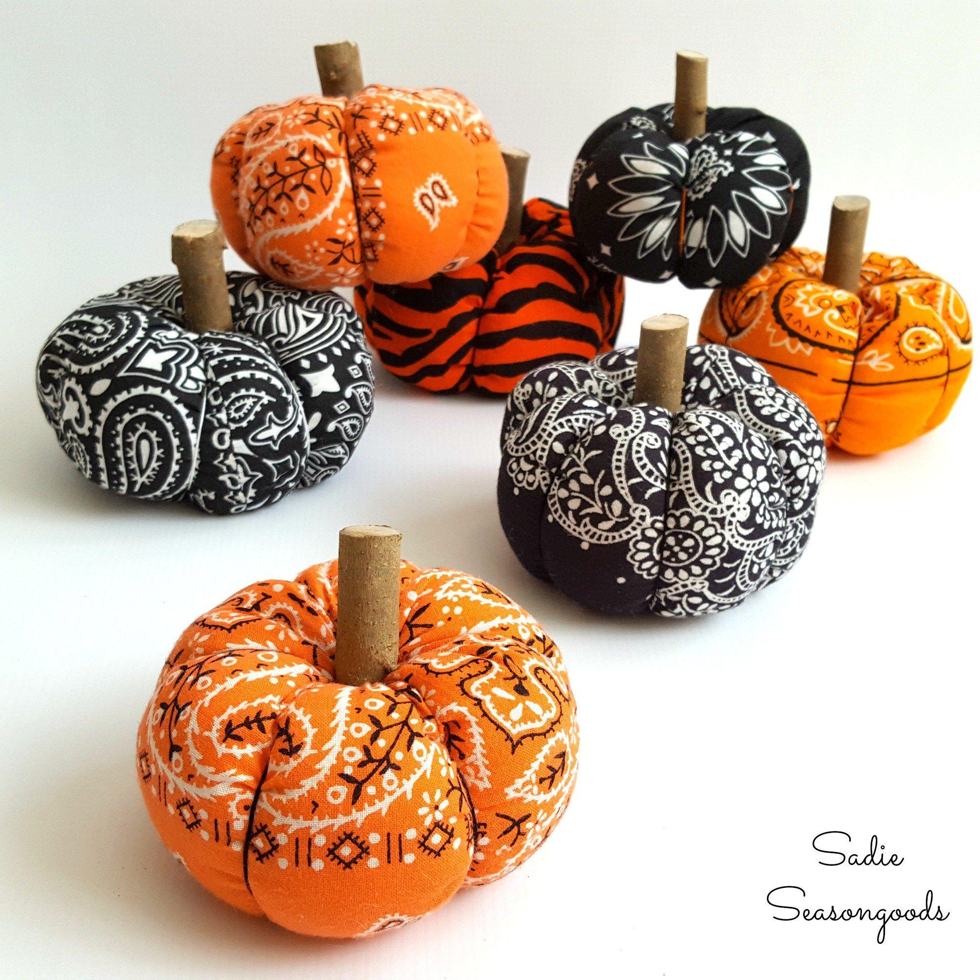 Bandana Pumpkins / Fabric Pumpkins for Country Halloween