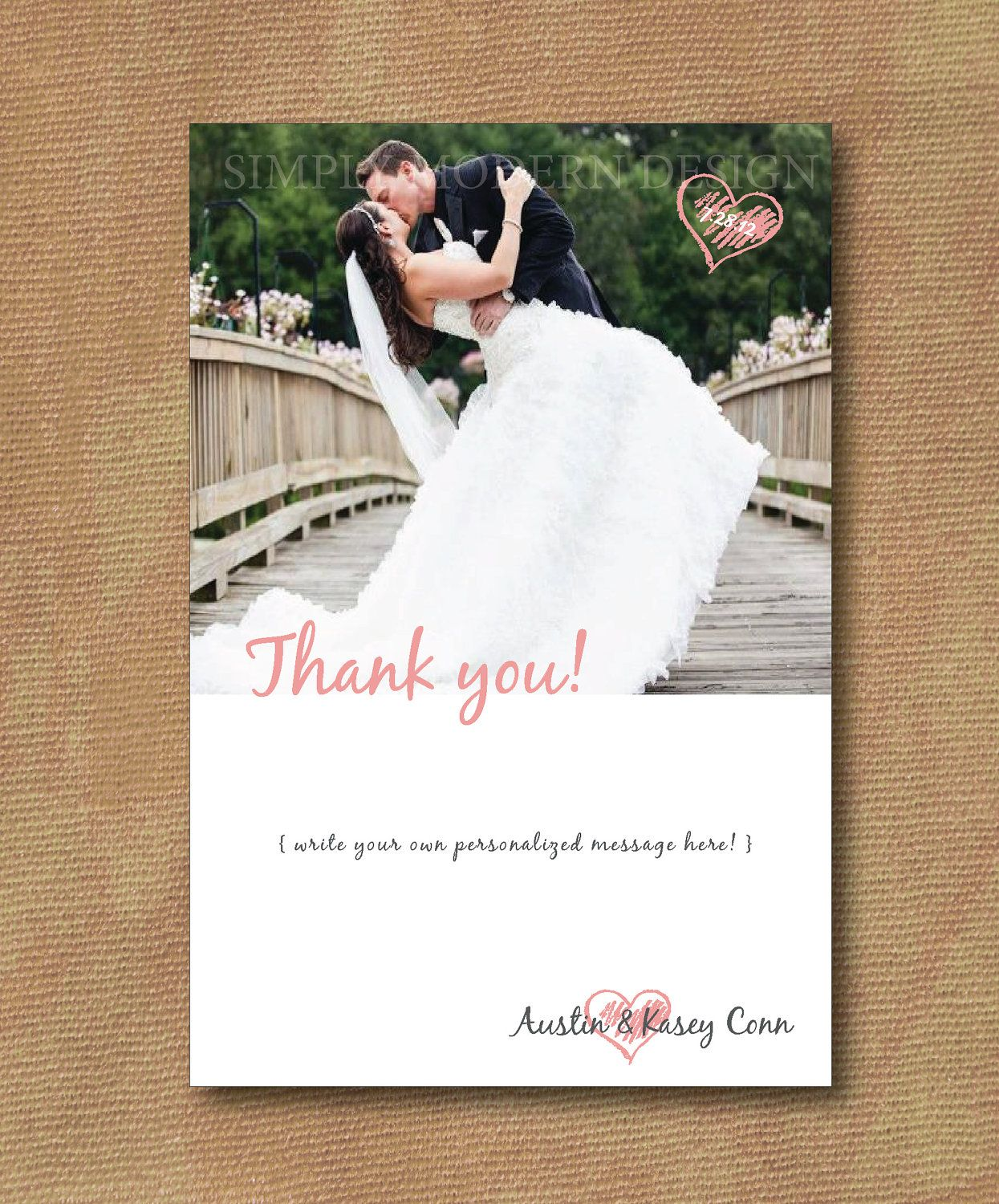 Thank You Card Wedding Simple Thank You Thank You Message