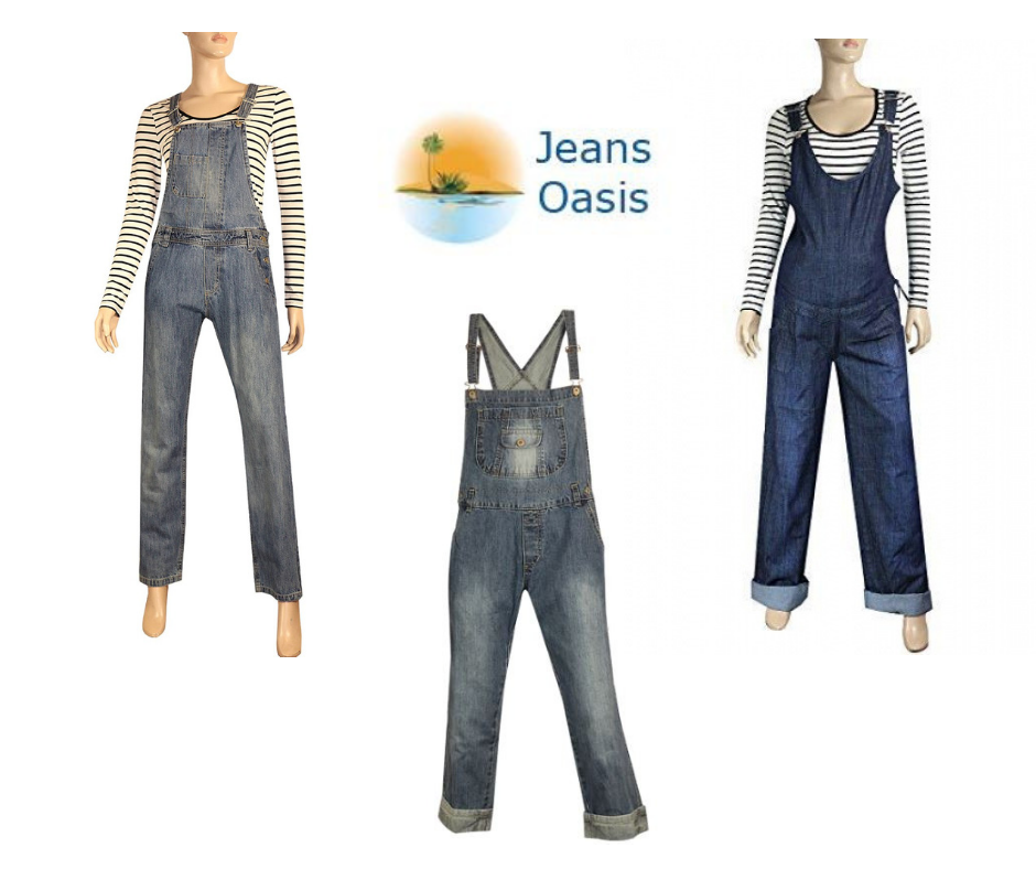 f1f68743892 Experience extreme comfort with stylish and soft blue denim dungarees for  women in plus size.