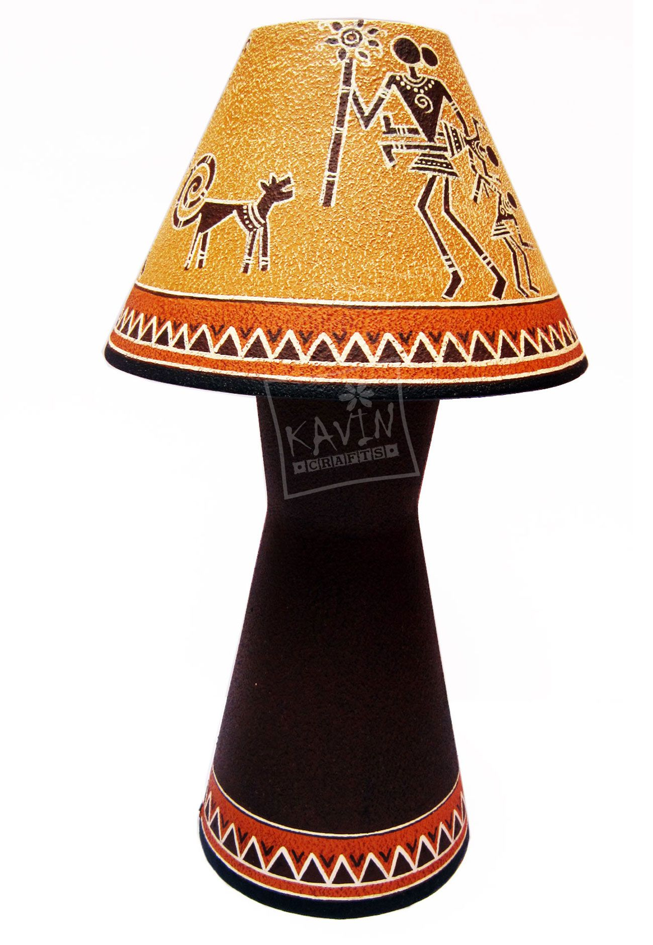 Handmade lampshades decorated with indian tribal traditional art handmade lampshades decorated with indian tribal traditional art works created by kavin crafts pondicherry india mozeypictures Image collections