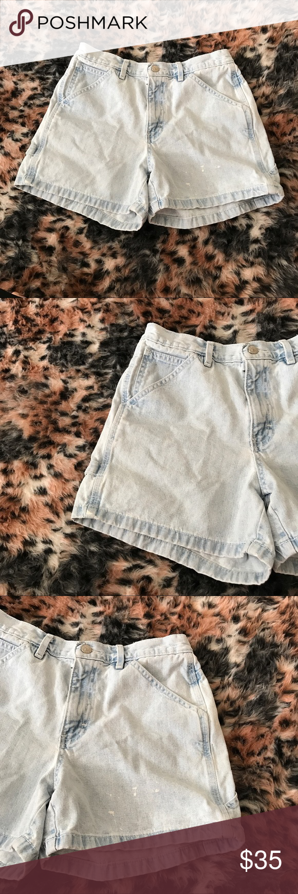Tommy Hilfiger Vintage High Waisted Jean Shorts A gently used light wash vintage pair of jean shorts by Tommy Hilfiger in a size 6 and in a high waisted style.   ✨ Ask me about free shipping! 💕 Always ships within 2 business day 🚫 I do not trade Tommy Hilfiger Shorts Jean Shorts