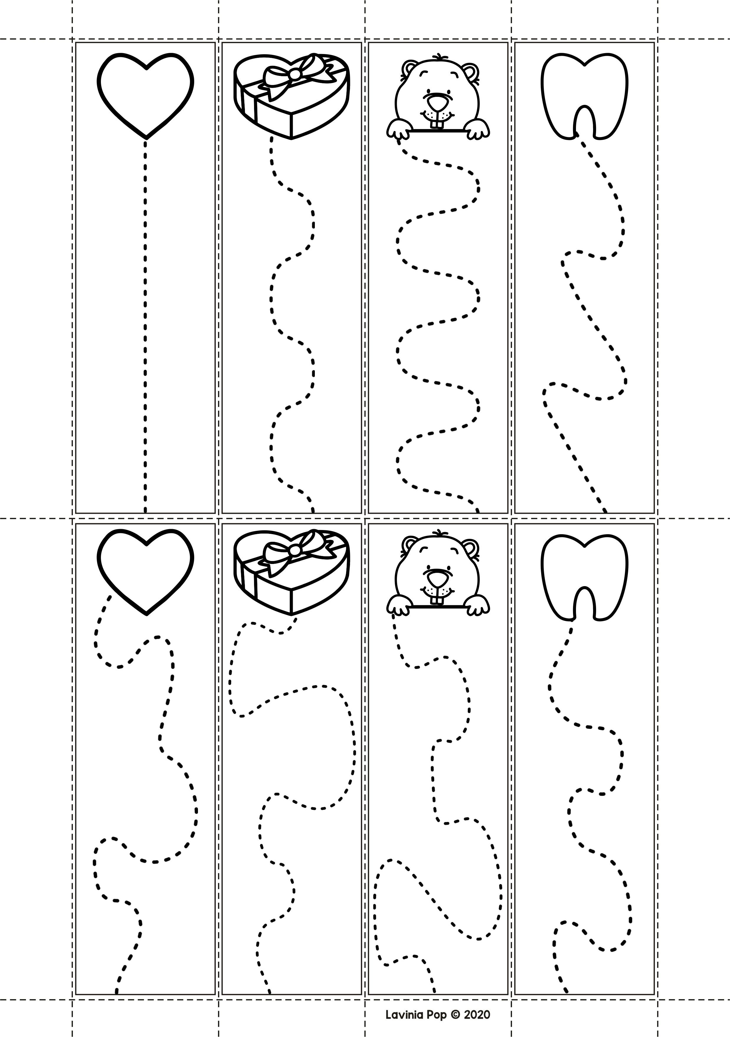 Fine Motor Printable Activities For February