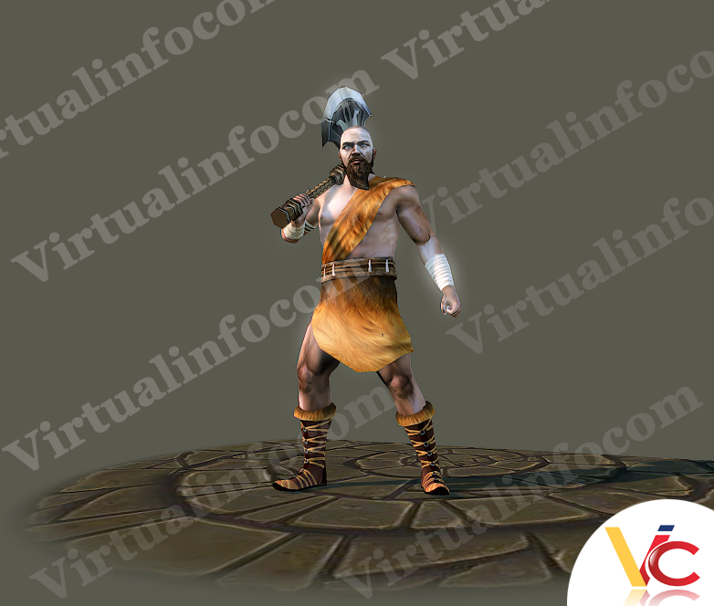 Game Art Of Fighter Character 3D Model (With Images)