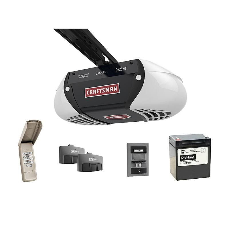 How To Install Craftsman Belt Drive 3 4 Hp 54918 With 8 Extension 53728 Craftsman Garage Door Garage Door Remote Garage Door Monitor