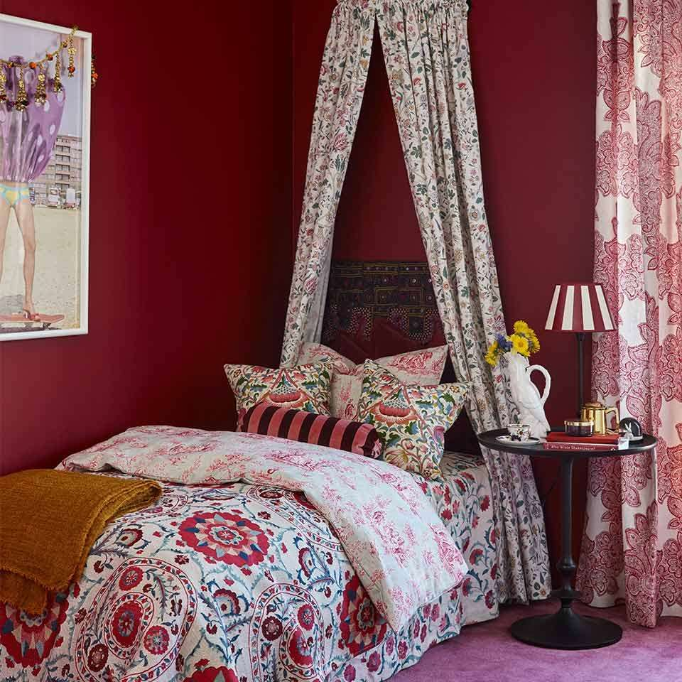 Photo of Red colors for bedrooms