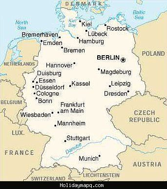 cool Germany Map Tourist Attractions | Holidaymapq | Pinterest | Air ...