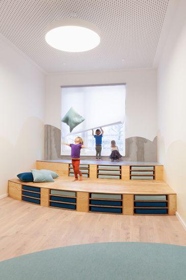 Babies And Beyond Daycare Furniture: Przedszkole Kita Unterm Regenschirm (projekt BAUKIND) Cz
