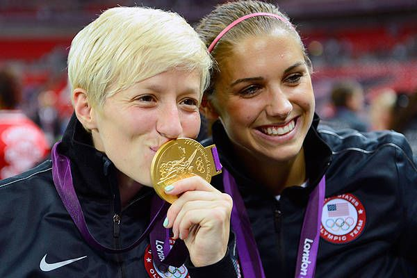 Image result for megan rapinoe olympic medals