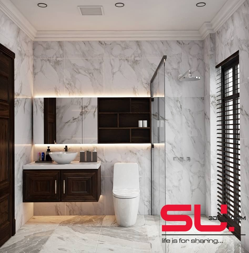 03  Bathroom 3D Sketchup free download | 3d mili in 2019