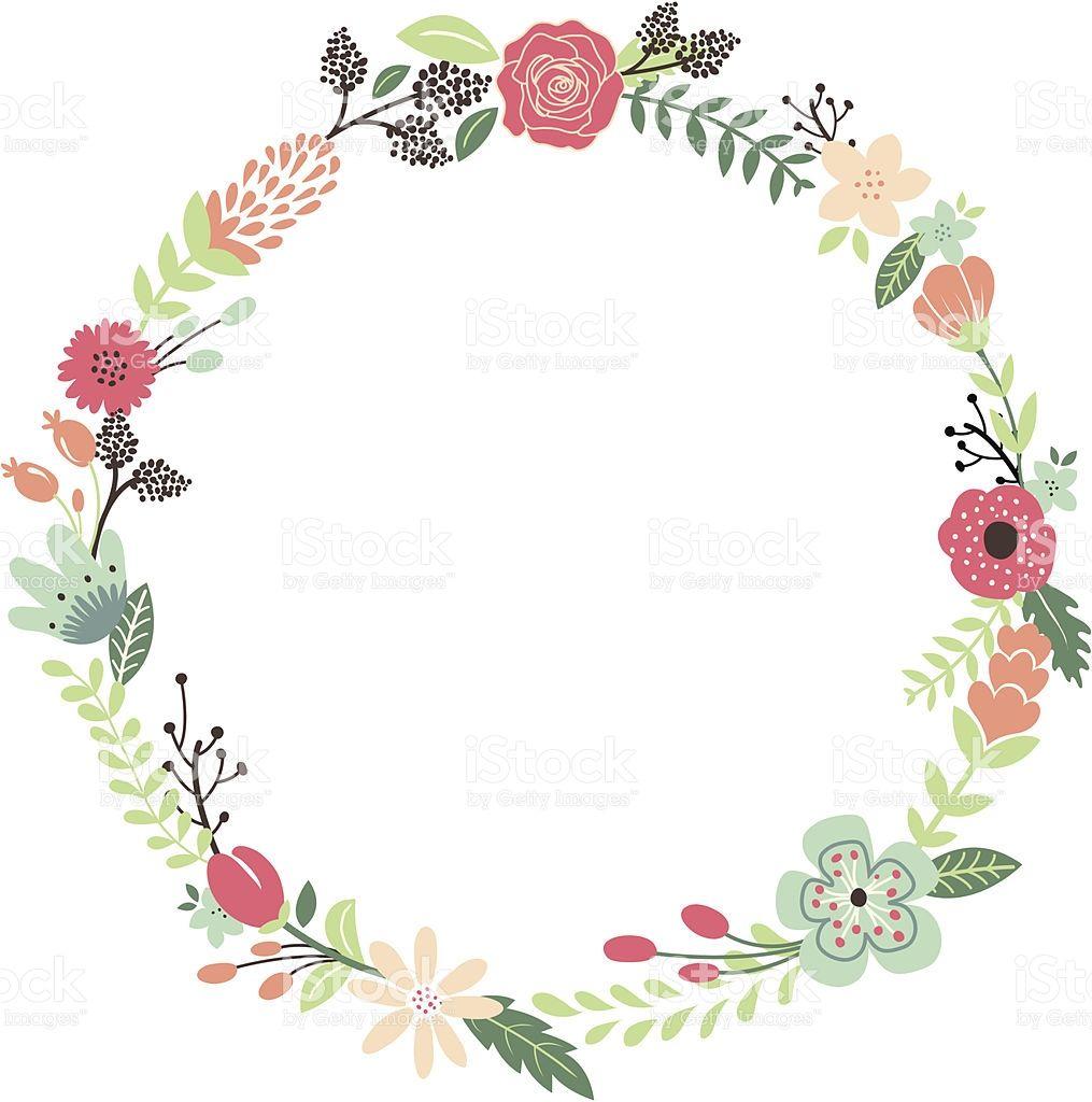 A Vector Illustration Of Vintage Flowers Wreath Perfect For Wedding Wreath Illustration Flower Drawing Vintage Flowers