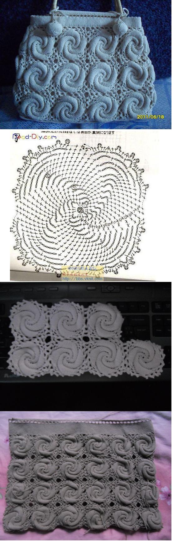 Ein wunderschönes Muster ... nur Luftmaschen & feste Maschen ;O ...