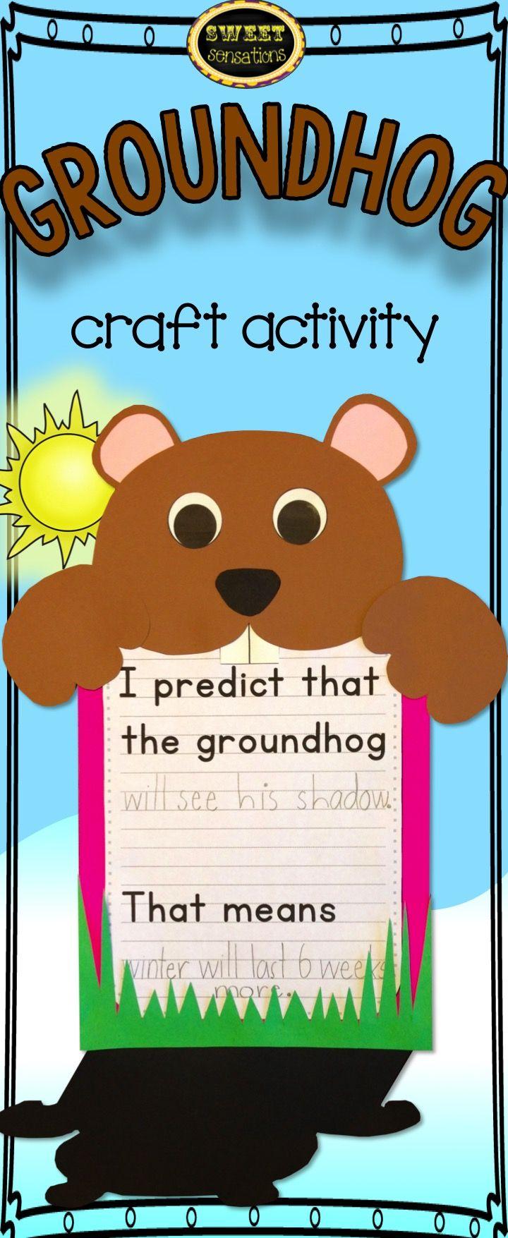 Groundhog Day Craft Groundhog Day Prediction Writing Activity Groundhog Day Activities Ground Hog Day Crafts Groundhog Day [ 1755 x 720 Pixel ]