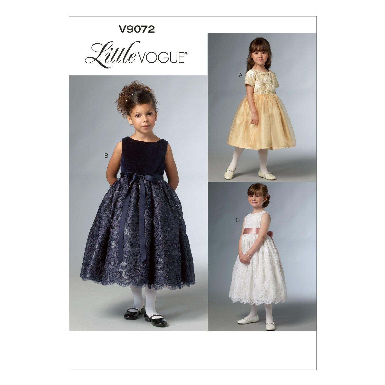 Mccall Pattern V9072 6-7-8 -Vogue Pattern