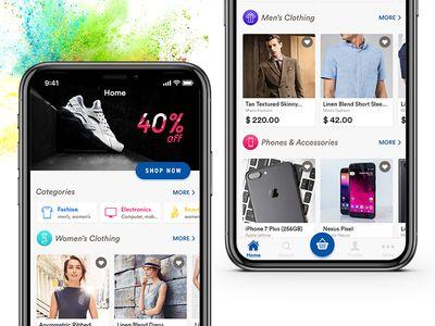 E-commerce App Home Screen Design | Screen design, Screens and App