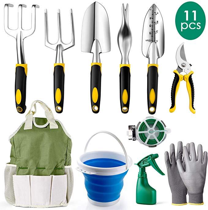 Amazon Com Amzdeal Garden Tool Set Gardening Tool Kits In Chrome