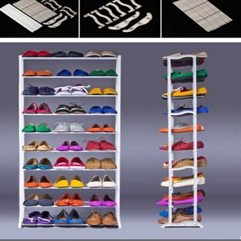 Shoe Racks And Organizers Inspiration Standing 10 Tier Shoe Shelf Rack Organizer Space Saving Shoe Rack Review